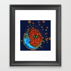 Sun-Moon Framed Art Print