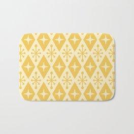 Mid Century Modern Atomic Triangle Pattern 711 Yellow on Yellow Bath Mat