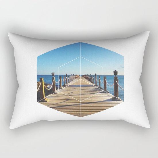 Ocean Walk - Geometric Photography Rectangular Pillow
