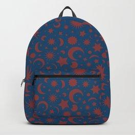 Celestial Kilim in Teal + Terracotta Backpack