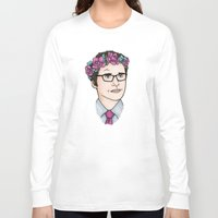 wesley bird Long Sleeve T-shirts featuring Flower Crown James Wesley by HayPaige