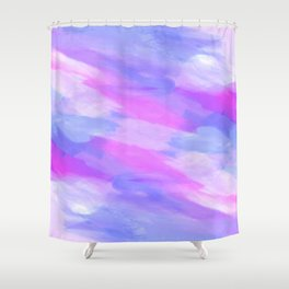 Watercolor Abstract Texture in Pastel Colors Shower Curtain