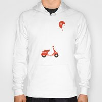 watch Hoodies featuring Polar bear on scooter by Picomodi