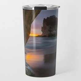 Dawn At Cathedral Cove 4 Travel Mug