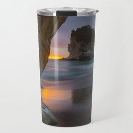 Dawn At Cathedral Cove 4 Travel Mug