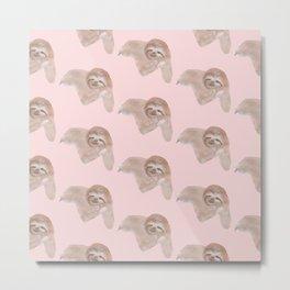 Sloth Neck Gator Cute Sloth Metal Print