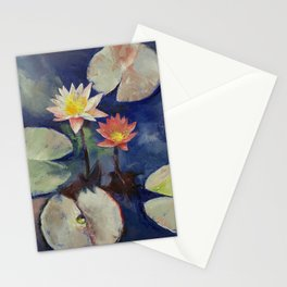 Water Lily Painting Stationery Cards