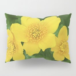 Marsh Marigold Caltha Palustris Pillow Sham