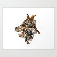 Legion of Canines Art Print