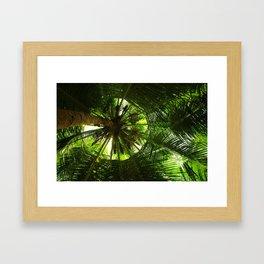 Green geometry Framed Art Print