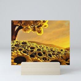 Sunflower Digital Art - Jeanpaul Ferro Mini Art Print