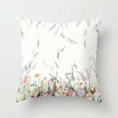 Santa Fe Cactus Love Throw Pillow