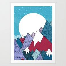 Blue Sky Mountains Art Print
