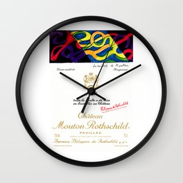 Vintage 2011 Chateau Rothschild Wine Bottle Label Print Wall Clock