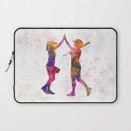 women playing softball 01 Laptop Sleeve