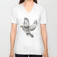 wanderlust V-neck T-shirts featuring Wanderlust by Tobe Fonseca