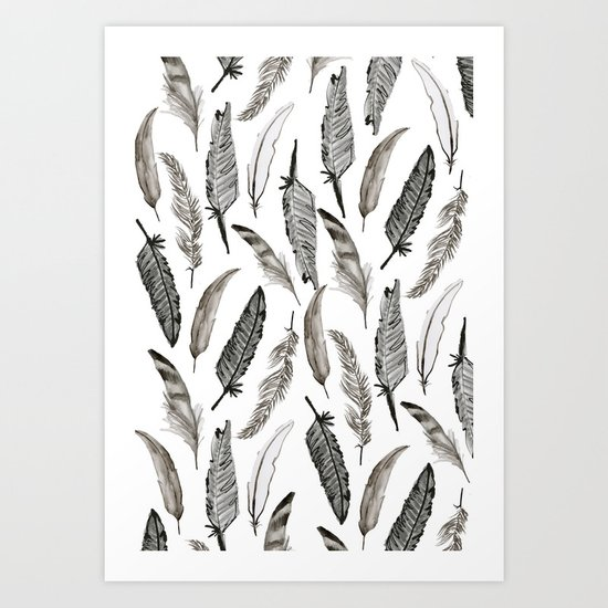 Feather Pattern Art Print