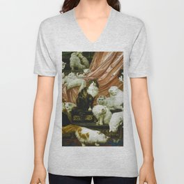 Classical Masterpiece 1893 - My Wife's Lovers by Carl Kahler Unisex V-Neck