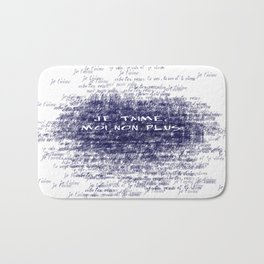 Je t'aime - Jane Birkin & Serge Gainsbourg Bath Mat