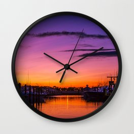 Ocean City, Maryland Sunset Wall Clock