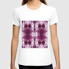 Black Cherry Plaid Shibori T-shirt