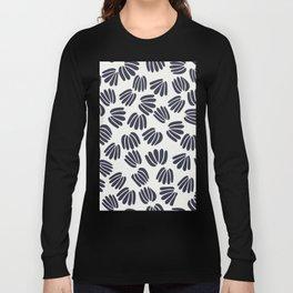 Abstract Floral V Long Sleeve T-shirt