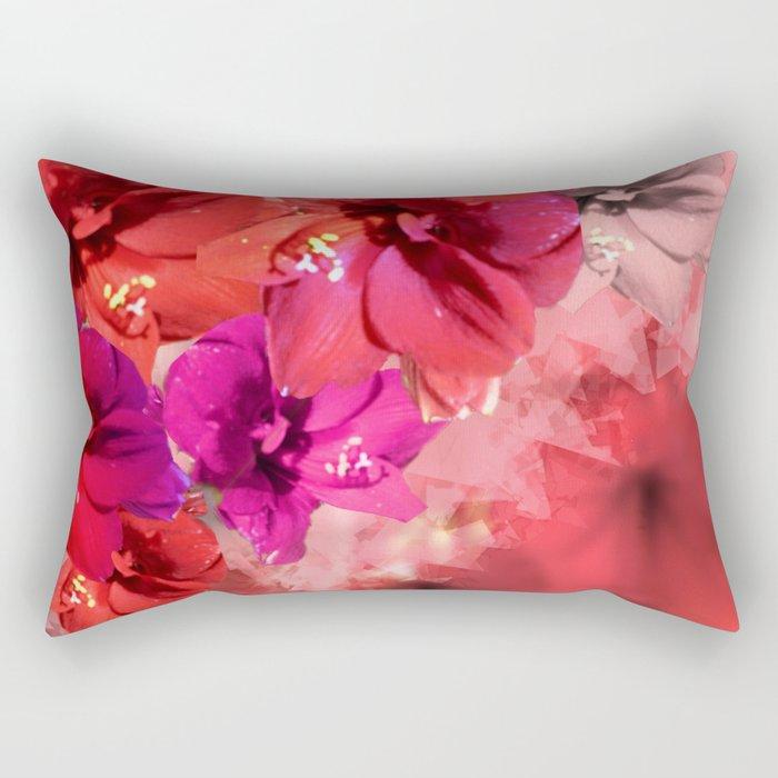 Red Flower Fantasia Rectangular Pillow