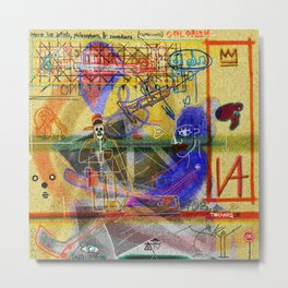 ART HISTORY SERIES: PELAN ALTARPIECE (POLYPTYCH) Metal Print
