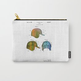 Patent drawing of a Baseball Helmet - Circa 1962 Carry-All Pouch