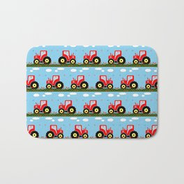 Toy tractor pattern Bath Mat
