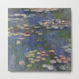 Water Lilies (Nymphéas), c.1916 Art, Monet Metal Print
