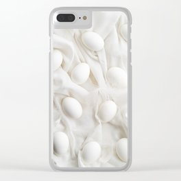 White eggs Clear iPhone Case