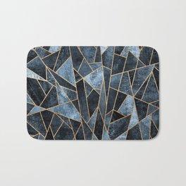 Shattered Soft Dark Blue Bath Mat