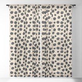 Irregular Small Polka Dots black Sheer Curtain