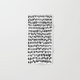 Dots (Black) Hand & Bath Towel