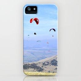 Paragliders in England's Peaks iPhone Case