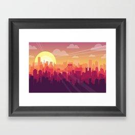 Brooklyn Sunset Framed Art Print