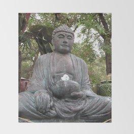 Buddha Statue Throw Blanket