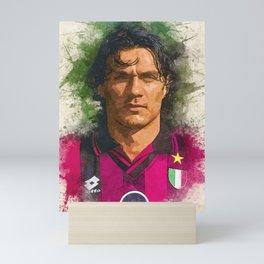 Paolo Maldini Portrait Mini Art Print
