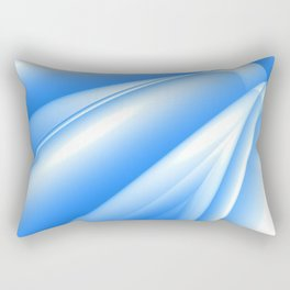 Blue Abstract Rectangular Pillow
