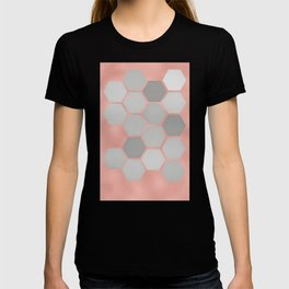 Honeycomb on Rose Gold T-shirt