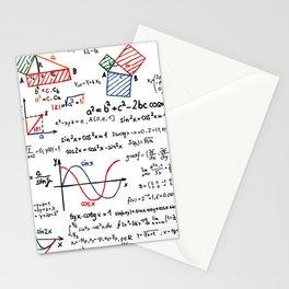 Math Cheat Sheet Stationery Cards