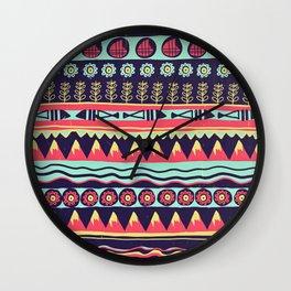 Scandinavian pattern Wall Clock