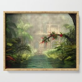 Lost City in the jungle Serving Tray