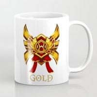 league of legends Mugs featuring League of Legends Gold Tier by Big Little POP World