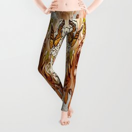 Tiger chase butterfly Leggings