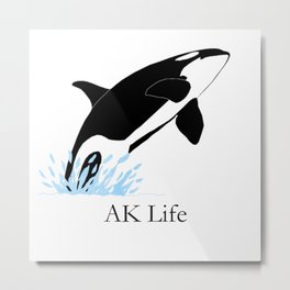 AK Life Orca Metal Print