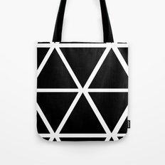 BLACK & WHITE TRIANGLES Tote Bag