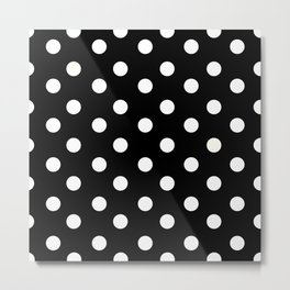 Polka Dot Pattern Metal Print