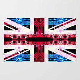 circuit board United Kingdom (flag) Rug